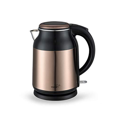 V-Guard VKS17 Prime 1.7L 1900 W Stainless Steel Electric Kettle with Cool Touch Body (Copper Black)