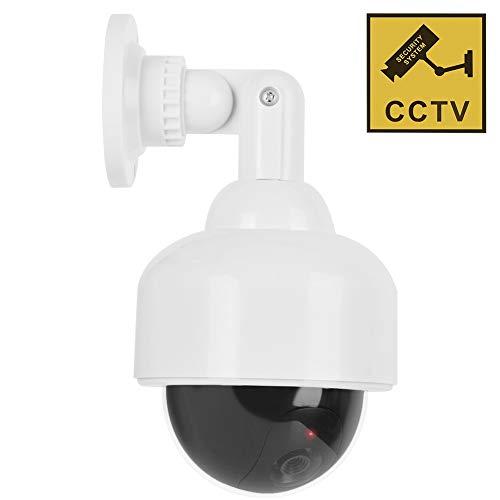 Videocamere finte, Telecamere simulate CCTV Telecamera di sicurezza di sorveglianza fittizia a cupola realistica con LED lampeggiante