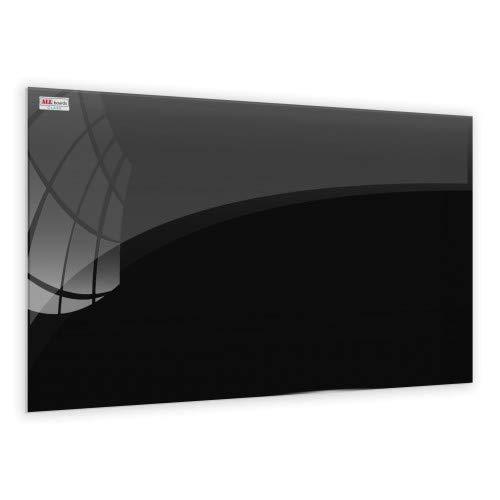 ALLboards Lavagna in Vetro Magnetica Nera | 60x40 cm | Scrivibile e Facilmente Cancellabile, Design...