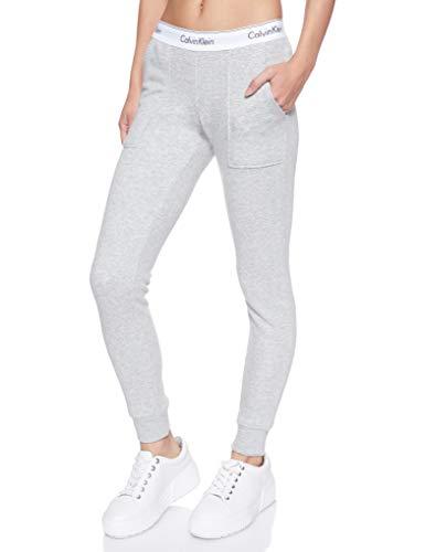 Calvin Klein Damen Bottom Pant Jogger Sporthose, Grau (Grey Heather...