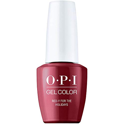OPI Holiday '20, GelColor, Gel Nail Polish, Red-y For the Holidays