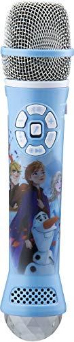 eKids Disney Frozen 2 Bluetooth Karaoke Microphone w/LED Disco Lights /Bluetooth Speaker