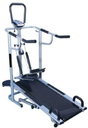 MONEX Body Gym 4 in 1 Manual Walk or Foldable Jogger Fitness Loose Weight Treadmill for Home...