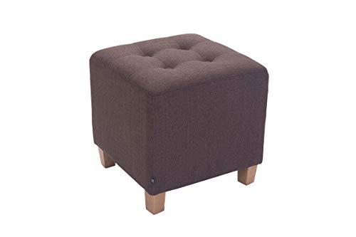 CLP Sitzhocker Pharao mit Stoffbezug I Sitzwürfel mit hochwertiger Polsterung und Bodenschonern, Farbe:braun