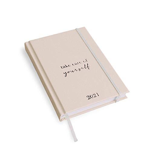 VISUAL STATEMENTS Jahresplaner 2021; ein Kalender in verschiedenen Größen- Terminkalender - mit Sprüchen; Hardcover Taschenkalender - Agenda - edles Design (take care of yourself 2021 A5)