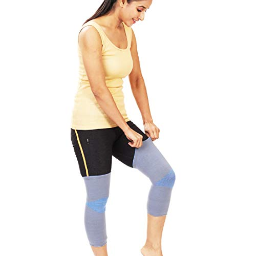JSB BS61 Stretchable Knee Cap Support for Sports and Pain Relief (Pair) (M)