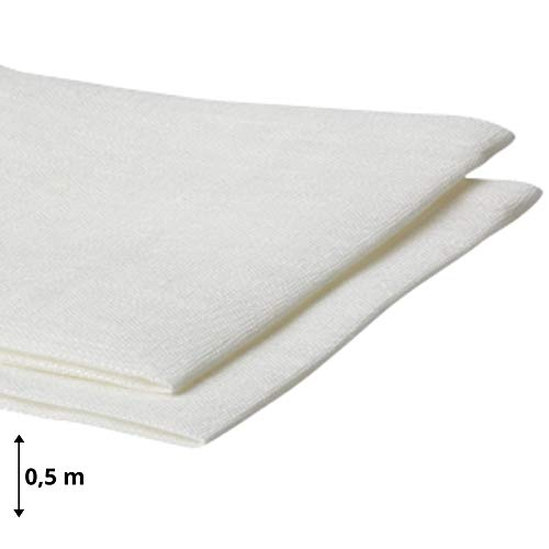 Amazinggirl Baumwollstoff Meterware weiß Stoff aus 100{e790011edc14b97babe796fcb000262051c165ae8b976a1dab68a061d16c9bb3} Baumwolle 1,6 m x 1 m - Stoffe zum Nähen Nähstoffe Uni Baumwollstoffe Öko-Tex Standard 100
