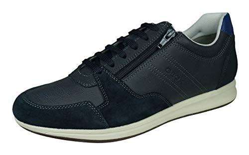 Geox Hombre Zapatos de Cordones U Avery, de Caballero Calzado Deportivo,Zapato con Cordones,Calzado de Exterior,Ocio,Blau,40 EU / 6.5 UK