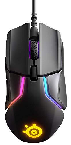 SteelSeries Rival 600, Mouse da Gioco, Doppio Sensore Ottico TrueMove3+, Distanza di Sollevamento Pari a 0.05, 12.000 CPI, Sistema di Regolazione del Peso, Cablata, Nero