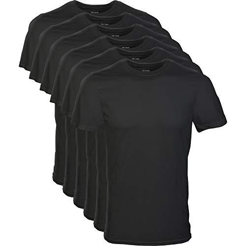 Gildan Men's Crew T-Shirts, Multipack, Black (6-Pack), X-Large