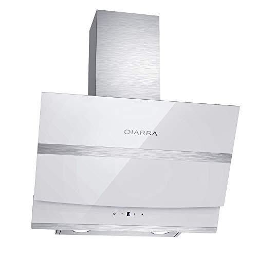 CIARRA, Cappa Aspirante Cucina 60 cm in Acciaio Inox, 750 m / h, Cappa a Parete con Pannello Touch,...