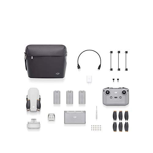 DJI Mini 2 Fly More Combo (EU) + Care Refresh (Auto-activated), Drone Leggero e Portatile, Distanza Trasmissione 6 km, Video HD 4K, Offre Due Sostituzioni in un Anno, Copre Diversi Tipi di Incidenti