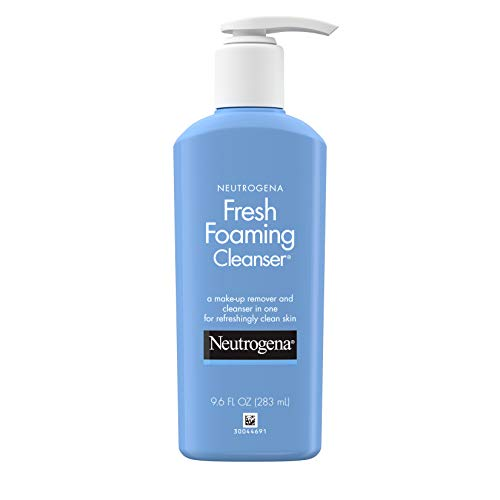 Neutrogena Fresh Foaming Facial Cleanser & Makeup Remover with Glycerin, Oil-, Soap- & Alcohol-Free Daily Face Wash Removes Dirt, Oil & Waterproof Makeup, Non-Comedogenic, 9.6 fl. oz