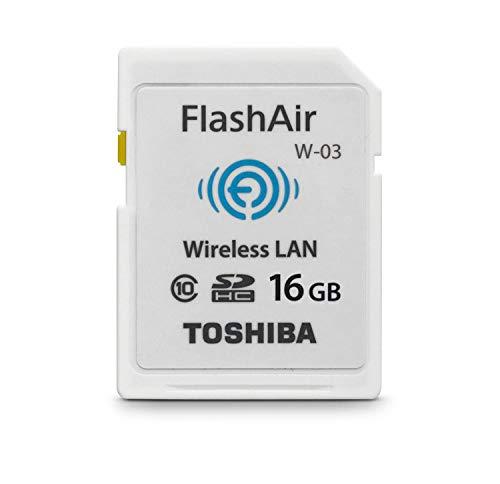 東芝 Flashair SDHC 16GB SD-R016GR7AL01 Class10 Toshi