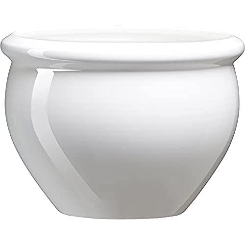 Emsa 512668 Siena Nobile - Maceta con aspecto de cerámica vidriada, Material de plástico, Blanco perla, 26 x 19 cm