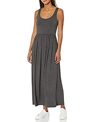 Stylish tank-style maxi dress with a fixed waistband and a relaxed fit perfect for a casual day out Everyday made better: we listen to customer feedback and fine-tune every detail to ensure quality, fit, and comfort Check out more from Amazon Essenti...