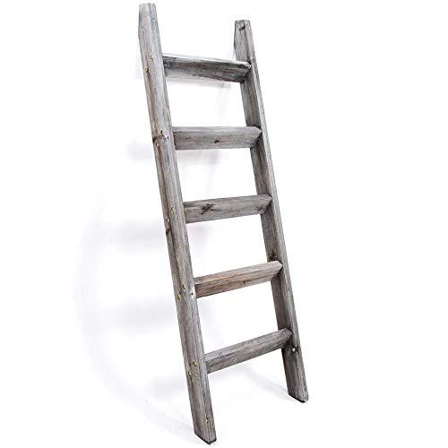 Hallops Blanket Ladder 5 ft. Premium Wood Rustic...