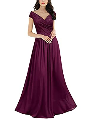 SIZE RECOMMEND: US 4/6(Small), US 8/10(Medium), US 12/14(Large), US 16(X-Large), US 18(XX-Large) Suit for Casual Occasion,Outdoor,Evening Party and Wedding Deep-V Neck,Sleeveless. Sexy Halter Back Design, Long Style Dress. Please Put Into A Laundry B...