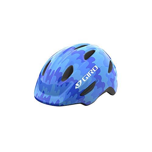 Giro Scamp Youth Recreational Bike Cycling Helmet - Extra Small (45-49 cm), Blue Splash (2021)