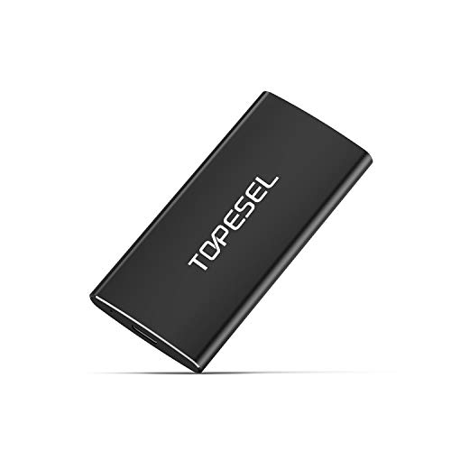 Portable SSD, TOPESEL 60GB High Speed Read & Write up to 540MB/s, External Solid State Drive for PC,...
