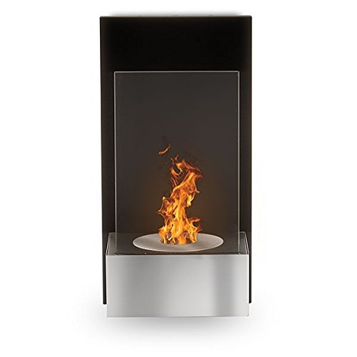 Tab Brushed Stainless Steel Ethanol Fireplace (Bio Wall Hearth)
