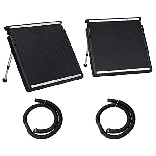 vidaXL Panneau de Chauffage Solaire à Double Piscine Chauffe-Eau Solaire Système de Filtration Système de Chauffage Ecologique Extérieur 150x75 cm