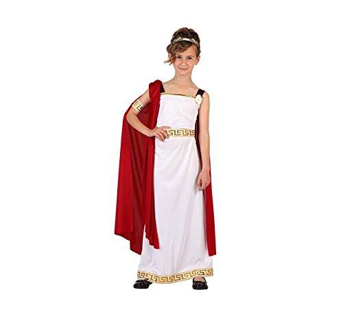 Atosa-6614 Disfraz Romana, Color Blanco, 10 a 12 años (6614)