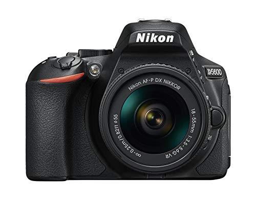 Nikon D5600 Fotocamera Reflex Digitale con Obiettivo AF-P DX NIKKOR 18-55mm VR, 24,2 Megapixel, LCD Touchscreen ad Angolazione Variabile 3', Nero