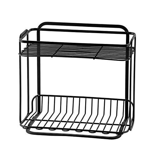 【BLKPシリーズ】 パール金属 調味料収納スタンド ブラック 幅27.0 × 奥行16.0 × 高さ24.0cm