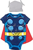 Marvel Avengers Thor Baby Boys Costume Bodysuit with Cape & Hat Blue (6-9 Months)