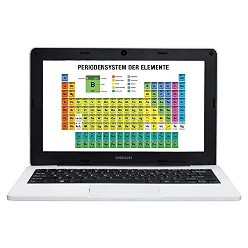 MEDION E11202 29,5 cm (11,6 Zoll) HD Notebook (Intel Celeron N3450, 4GB RAM, 64GB Flash-Speicher, Webcam, Win 10 Home im S-Modus)