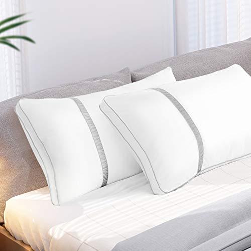 BedStory [Nuova Versione Cuscini Letto Coppia 50x70cm Antiacaro, Guanciali Letto Coppia in Fibra di...