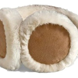 HEAD Woman's Ear Warmers Earmuffs with Genuine Shearling Sheepskin One Size Fits All Tan