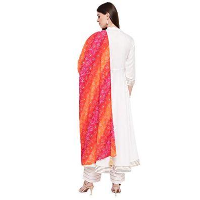 Khushal-K-Womens-Rayon-Flared-Kurta-And-Palazzo-With-Dupatta-Set-White