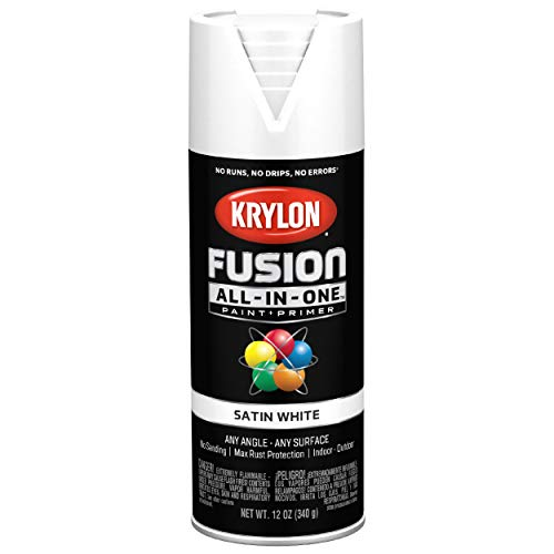 Krylon K02753007 Fusion All-In-One Spray Paint for Indoor/Outdoor Use, Satin White