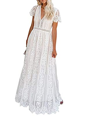 Features:V-neckline,short sleeve,bra friendly,see through at waitst and sleeve. This dress cut with a v-neckline, sheer lace sleeves and a cute tiered skirt. Lace overlay with tulle underlay, fashions sheer crochet waistband and soft scalloping for a...