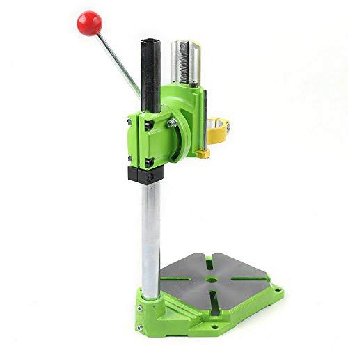Supporto per trapano girevole a 90, supporto per trapano da tavolo, regolabile, stabile, adatto per molti modelli