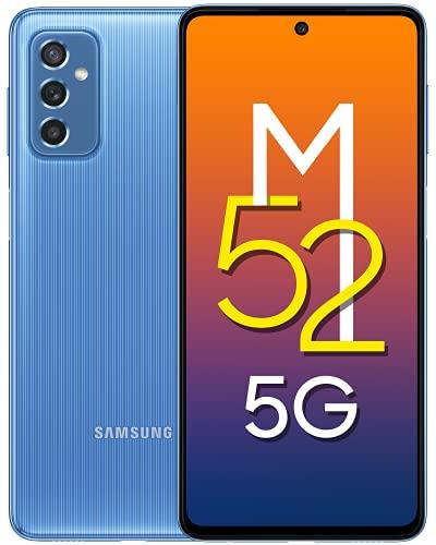 Samsung Galaxy M52 5G (ICY Blue, 6GB RAM, 128GB...
