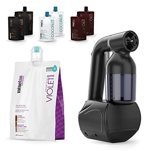 MineTan Spray Tan Kit - Tan.Handy Spray Tan Machine and 7 x Spray Tan Solutions