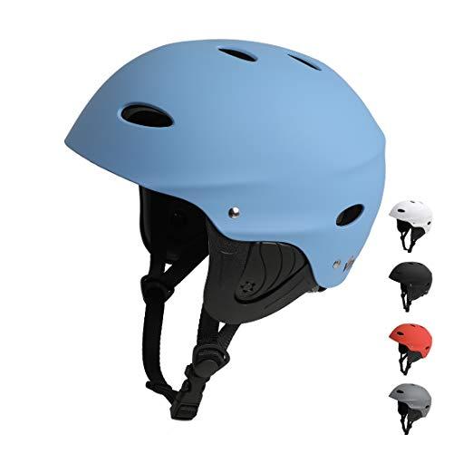 Vihir BMX Helm Wakeboard Helm Skaterhelm Fahrradhelm Herren Damen Jungs & Kinderhelm Wassersport Helm mit Ohrenschützer ABS+Eva (L 57-63CM, Blau)