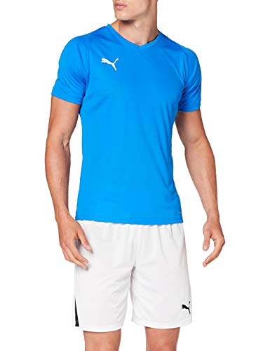 PUMA Herren Liga Core Jersey, blau(Electric Blue Lemonade/White), L