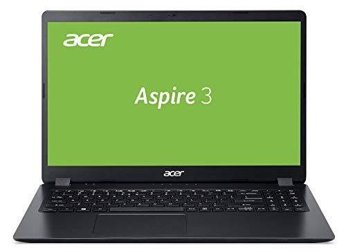 Acer Aspire 3 (A315-56-38QL) 39,6 cm (15,6 Zoll Full-HD matt) Multimedia Laptop (Intel Core i3-1005G1, 8 GB RAM, 256 GB PCIe SSD, Intel UHD Graphics, Win 10 Home im S Modus) schwarz, QWERTZ Tastatur
