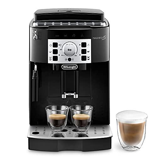 De'Longhi Magnifica S ECAM22.110.B Macchina da Caffè Automatica per Espresso e Cappuccino, Caffè in Grani o in Polvere, 1450 W, Nero