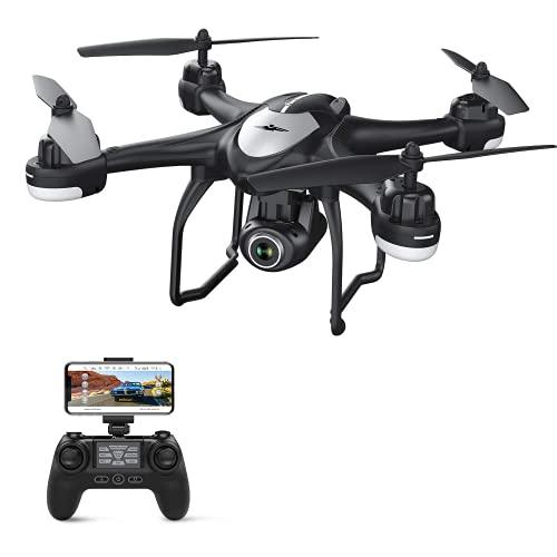 Potensic GPS Drone con Telecamera 1080P HD FPV RC Drone WiFi con Fotocamera Grandangolo Regolabile, Seguimi, Torna a Casa Automaticamente, Mantenere l'Altitudine