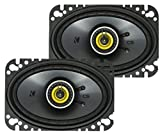 KICKER CSC46 CS Series 4 x 6 150 Watt 4 Ohm 2-Way Car Audio Coaxial Speakers System with Polypropylene Cone, PEI Tweeters and EVC Technology, Pair