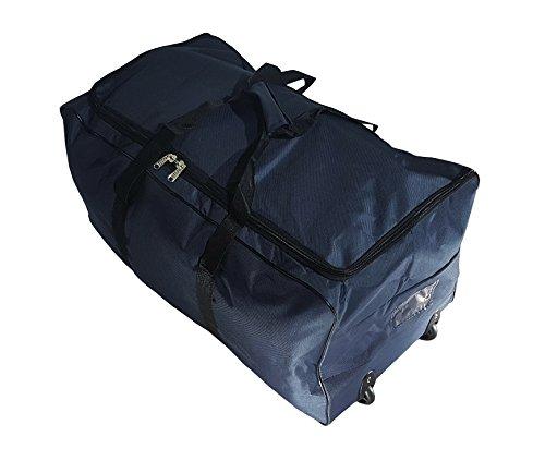 Borsa da viaggio sportiva valigia trolley grande da 140L con ruote. Taglia XXL