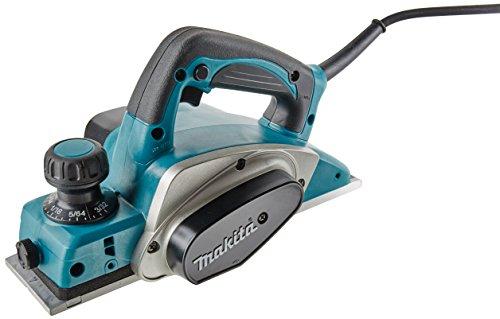 Makita KP0800 Elektrischer Hobel 620 W 17000 RPM Schwarz, Blau, Silber - Elektrische Hobel (158 mm, 285 mm, 158 mm, 2,6 kg, AC)