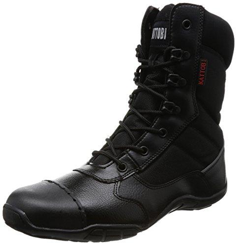 [フジテブクロ] 安全靴 オーバーキャップ 外付先芯 高所対応 長編上 8123 メンズ BLACK 27.0cm