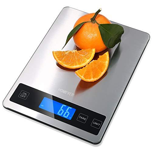 Bilancia Cucina Digitale, Homever 15kg in Acciaio Inossidabile Bilancia Cucina Pannello 9 * 6.3...