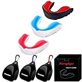 Mengdger Youth Mouth Guard Football MouthGuard Sports Kids Boys Mouthpiece Teeth Braces EVA Double Colored for MMA Boxing Rugby Kickboxing Taekwondo Softball Lacrosse(3 Pack)